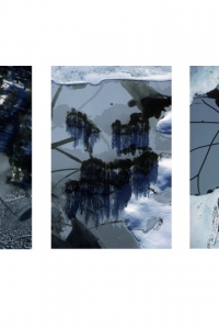 AW-TT-7 Change of state: melting ice (triptych), Scotland