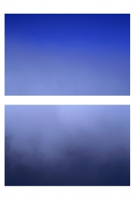 AW-DT-20 Cloud level: above & below (diptych), Scotland