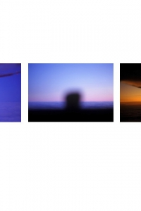 AW-TT-27 Above cloud: sunset moonrise (triptych), Scotland